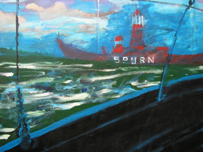 Spurn Lightship at Sea